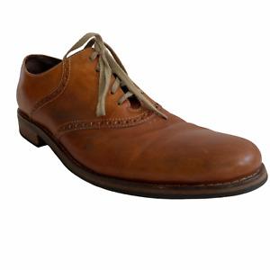 Cole Haan Drake Mens 12M US 46 EU Saddle Oxford Dress Shoes Brown C10509