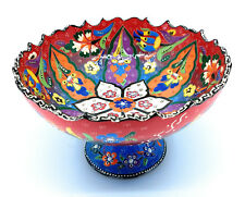 Handmade Turkish Traditional Ceramic Pottery Footed Candy Dish or Server (B)