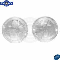 1957 57 Chevy Parking Turn Light Lamp Lens - CLEAR Set - Dynacorn