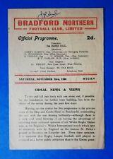 More details for bradford northern v wigan, 23/11/1946  - league match programme.