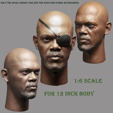Captain America 1/6 Scale Nick Fury Headplay Sculpt For 12inch Male Body Figure