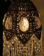 1of4 Jeweled Spelter filigree Hollywood Regency SWAG lamp chandelier Vintage
