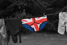 T-TOWEL Shaped as PANTS - Kitchen Union Jack print cotton towel