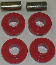 67-72 Chevy GMC 4wd Truck Blazer RED Poly Transfer Case Side Mounts 4x4 NP205