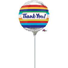 Thank You Stripes Mini Shape Balloon Birthday Party Air