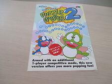 >> PUZZLE BOBBLE 2 II TAITO ARCADE ORIGINAL JAPAN HANDBILL FLYER CHIRASHI! <<