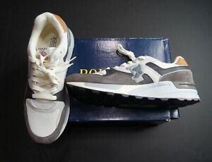 POLO RALPH LAUREN Men's Grey/White Trackster 100 Sneaker NEW NIB