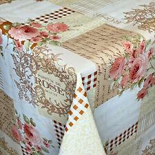Mantel Hule por Metro Perfume De Rosa Parche K195A Ovalado Rectangular Redondo