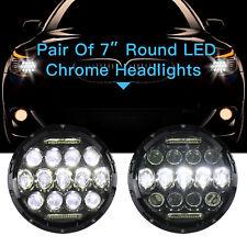 """2x7"""" 150W Total CREE DRL LED Headlights Hi/Lo Fit JEEP Wrangler JK TJ YJ 97-17"""