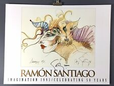"Ramon Santiago, ""Dreamer #2 / Imagination"" Hand-Signed & Dated 2000, Art Print"