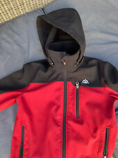 Boys Softshell Snozu Black / Red Jacket