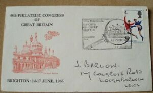 1966 World Cup - 48th Philatelic Congress of GB, souvenir cover, 4d WC stamp