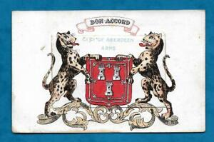 1910s PC ABERDEEN COAT OF ARMS WITH PULL-OUT VIEWS OF ABERDEEN