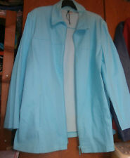 Blouson bleu turquoise - Tissu extensible - MS MODE - Taille 50 - TRES BON ETAT