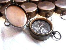Brass Lot Of 25 Compass Nautical Lid Compass 35 mm