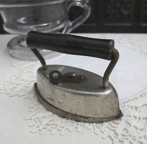 "Small Antique AsBestos Sad Iron w Detachable Handle Child's Toy? 4"" Farm Decor"