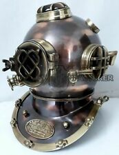 "18 ""Inch Diving Helmet Solid Steel brass Navy Deep Sea Helmet Antique Replica"