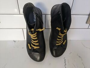 Mens CAMPER black leather boots excellent condition