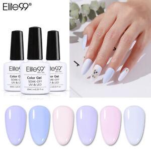 Elite99 Nail Art Soak Off Lavender Gel Polish 10ML Manicure UV LED Top Base Coat