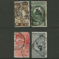50 Jahre geeintes Königreich Italien, Satz Nr. 100-103 gestempelt