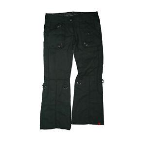 edc by ESPRIT PLAY Damen Jeans Hose Cargo Wander Turn up 31/30 W31 L30 Grau TOP