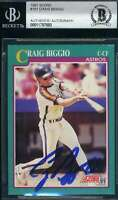 Craig Biggio 1991 Score BAS Beckett Coa Autograph Authentic Hand Signed