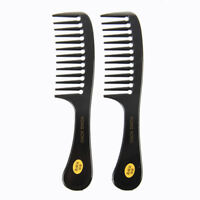 2 Pcs Hairstyle Wide Tooth Plastic Curly Hair Care Handgrip Comb WS