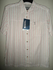 MOUNTAIN WAREHOUSE LIGHTWEIGHT RED & NEUTRAL STRIPED SHIRT SIZE S BNWT RRP £33