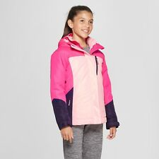 NWT Girls XL Pink Multi C9 Champion 3 in 1 System Jacket Coat