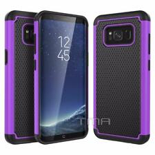 Samsung Galaxy S8 Hybrid Rugged Rubber Impact Shockproof Case Cover - Purple