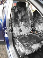i - TO FIT A MINI CLUBMAN CAR, S/ COVERS, 2 FRONTS, GREY FAUX FUR