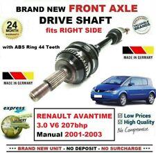 FOR RENAULT AVANTIME 3.0 V6 207bhp Manual 2001-2003 NEW FRONT RIGHT DRIVESHAFT