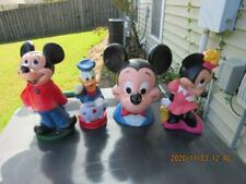 Mickey Minnie Mouse Donald Duck Piggy Bank Lot 1970's Walt Disney (20k1)