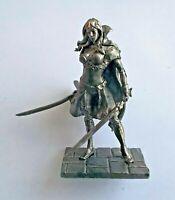 1/32 Fantasy warrior girl 2 swords Tin Metal Soldier Figure 54mm Female handmade