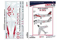 Decals Avon Sabre Indonesian TNI-AU SKU14 Special Marking 1/72 Scale