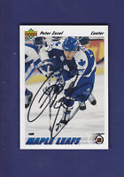 Peter Zezel *AUTOGRAPH* 1991-92 Upper Deck UD Hockey #241 Toronto Maple Leafs