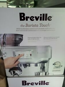 Breville Barista Touch BES880B Espresso Machine - Silver New Free Shipping!