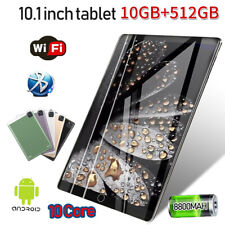 """Android 9.0 10 Core WiFi Tablet Bluetooth 10.1"""" 10+512GB HD 2560* 1600 Game GPS"""