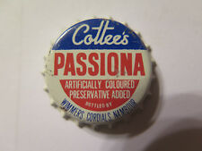 CROWN SEAL BOTTLE CAP COTTEES PASSIONA by WIMMERS CORDIALS NAMBOUR UNUSED c1960