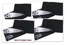 Knife Wallet Pocket Cutter Card Stainless Steel Surgical Thin Folding Blade x4