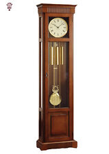 BilliB Harrison Long Case Flat Top Grandfather Clock Westminster Chime in Cherry