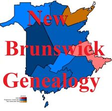 New Brunswick Genealogy Record Canadian  Family Tree 29 Books Ancestry on CD DVD