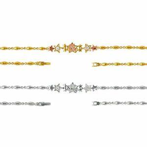 15th Anniversary Bracelet Quinceanera Mis 15 Anos Star Bracelet 14K Genuine Gold
