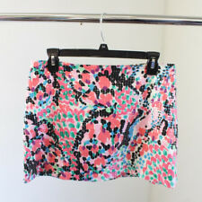 Lilly Pulitzer Tate Skirt Sequin Sweet Nothings Print Size 4 Pink White Black