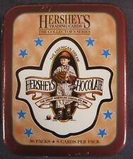 Hershey's Chocolate Collector Card Tin Box 36 Packs Dart Flipcard 1995 Sealed