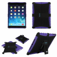TKOOFN Strong Shockproof Cover Stand for Apple iPad Air Bundled Purple