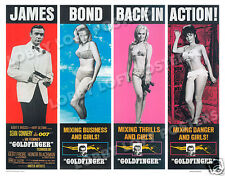 GOLDFINGER LOBBY SCENE CARD # 9 POSTER JAMES BOND SEAN CONNERY HONOR BLACKMAN