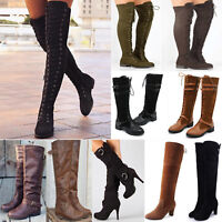 Women's Thigh High Over The Knee Riding Boots Winter Party Casual Boots Shoes
