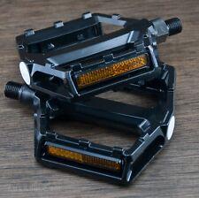 """LowPro Black Platform Bike Pedals 1/2"""" Vintage Schwinn Cruiser BMX Bicycle Crank"""