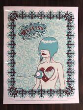 Tara McPherson Melvins 5 Color Silkscreen Print Limited Edition 103/200